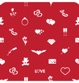 valentines day and love red pattern eps10 vector image