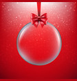 xmas red background with christmas ball vector image vector image