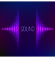 Violet neon stereo equalizer vector image