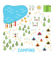 camping map set vector image