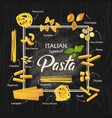 spaghetti or italian macaroni pasta meal vector image