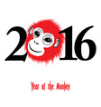 The year of monkey Chinese symbol calendar vector image
