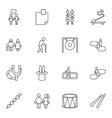 16 stick icons vector image vector image