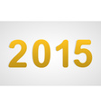 3D happy new year 2015 text design vector image vector image