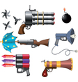 A military weapon set vector image