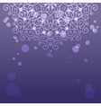 Abstract purple background with mandala ornament vector image vector image