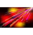 Abstract techno background with light effect vector image vector image