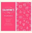 amourous valentines day greeting card vector image vector image