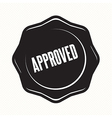 Approved retro vintage badges vector image vector image
