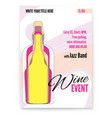 banner for wine festival event or menu covers vector image vector image