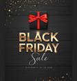 black friday sale gold message black gift box vector image vector image