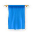 blue pennat flag pennon fabric blank vector image