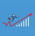 businessman jumping to success with fas vector image