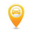 car icon yellow map pointer vector image vector image