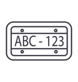 car number line icon sign on vector image vector image