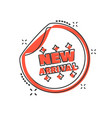 cartoon new arrival shopping icon in comic style vector image vector image