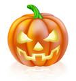 carved halloween pumpkin vector image vector image