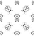 cat skull symbol with bones seamless pattern vector image