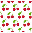 cherries seamless pattern vector image vector image