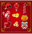 chinese new year icons vector image
