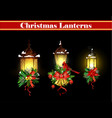 christmas decoration with street light vector image