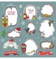 Christmas season doodle badgessymbols vector image vector image