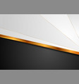 contrast white black background with golden stripe vector image vector image