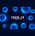 coronavirus design background with floating blue vector image vector image