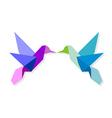 couple colorful origami hummingbird vector image