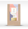 craft paper bag with anise chocolate label vector image