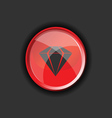 diamond on red on a black background vector image