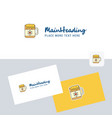 dish logotype with business card template elegant vector image vector image