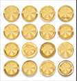 empty golden labels collection vector image