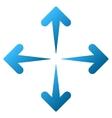 Expand Arrows Gradient Icon vector image vector image