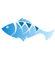 fish blue vector image vector image