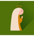 Flat icon with long shadow Virgin Mary vector image vector image
