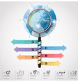 Global Business And Financial Infographic With vector image vector image