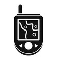 gps device icon simple style vector image