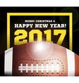 happy new year on background a ball vector image