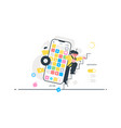 heavy modern smartphone vector image vector image