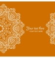 Invitation card with lace ornament 1 vector image vector image