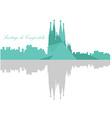 Isolated Barcelona skyline vector image