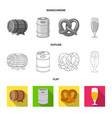 isolated object of pub and bar symbol set of pub vector image vector image