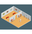 Isometric Interior vector image vector image
