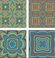 Kaleidoscope Inspired Floral Background Set vector image vector image