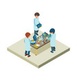 laboratory isometric scientist chemical lab vector image vector image