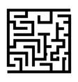labyrinth maze conundrum black color icon vector image