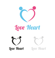 Love heart logo vector image