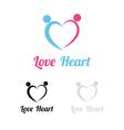 Love heart logo vector image vector image