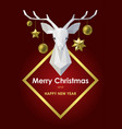 merry christmas and happy new year card with vector image vector image
